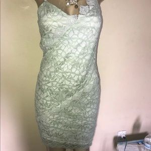 Top shop lace mint dress